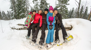 Easy tours for snowshoers